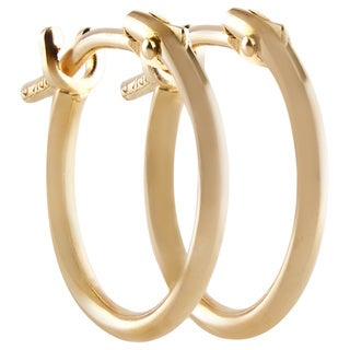 Pori 18k Yellow Gold 2x10mm Circle Hoop Earrings