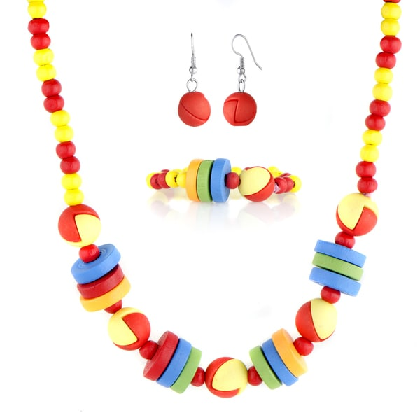 Little Girl Wooden Jewelry Set
