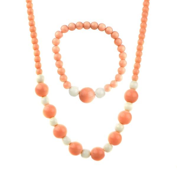 Little Girl Acrylic Bead Necklace & Bracelet Set