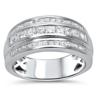 Noori 14k Gold Men's 1ct TDW Princess-cut Certified Diamond Wedding Band (G-H, SI1-SI2)