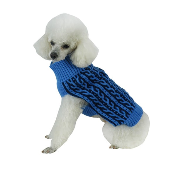 Blue Cotton Dog Sweater