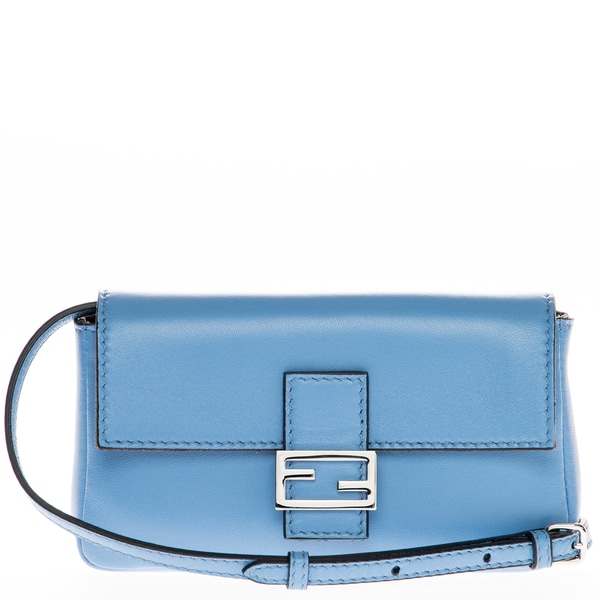 Fendi Light Blue Micro Baguette