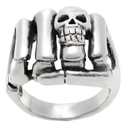 Vance Co. Men's Sterling Silver Skull Fist Ring