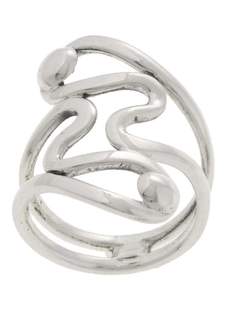 Journee Collection Sterling Silver Modern-design Ring