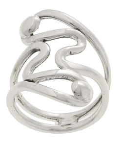 Tressa Sterling Silver Modern-design Ring