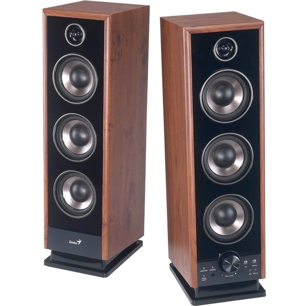 Genius SP-HF2020 V2 2.0 Speaker System - 60 W RMS - Wood (As Is Item)