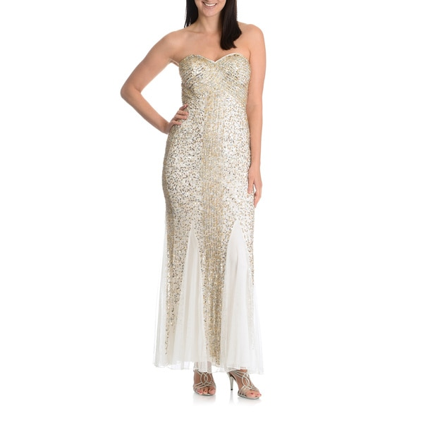 Joanna Chen New York Women's Strapless Sequin Mermaid Dress