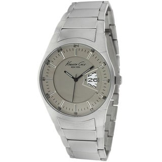 Kenneth Cole Men's KC9291 Classic Round Silvertone Stainless Steel Bracelet Watch