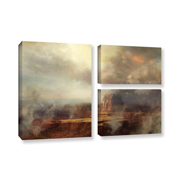 ArtWall Philip Straub 'Before The Rain' 3 Piece Gallery-wrapped Canvas Flag Set