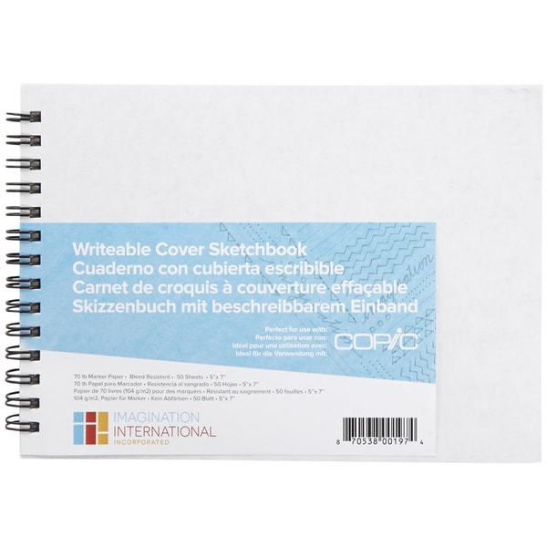 Copic Writable Cover Sketchbook 5inX7in 50 Sheets