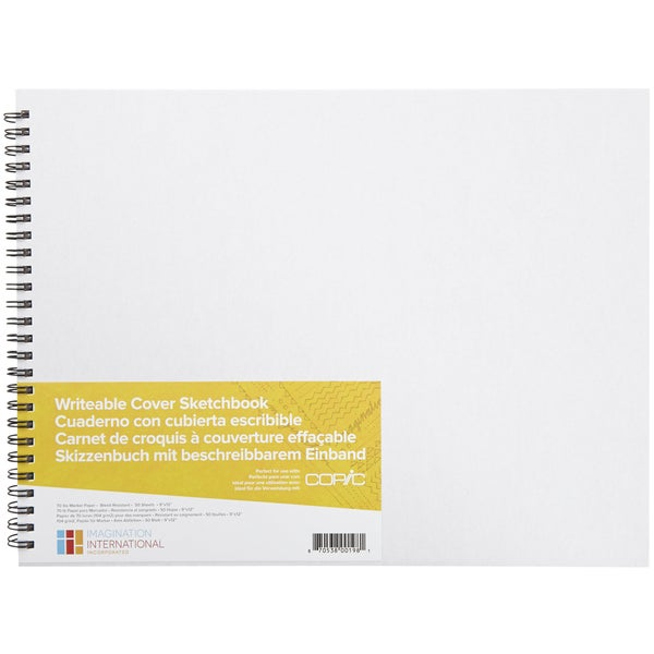 Copic Writable Cover Sketchbook 9inX12in 50 Sheets