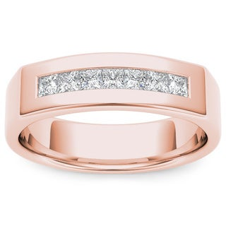 De Couer 14k Rose Gold 1/2ct TDW Diamond Men's Wedding Band (H-I, I2)