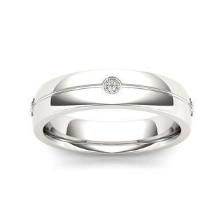 De Couer 14k White Gold 1/8ct TDW Diamond Men's Wedding Band (H-I, I2)
