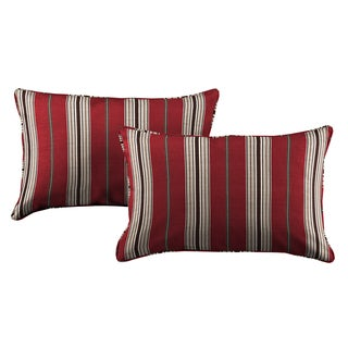 Better Living Red Stripe 24 inch Feather Down Accent Kidney Pillow (Set of 2)