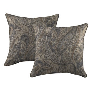 Better Living Gray Paisley 20 inch Feather Down Accent Pillow (Set of 2)