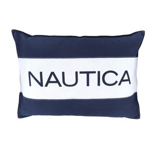Nautica Mainsail Striped Breakfast Logo Pillow