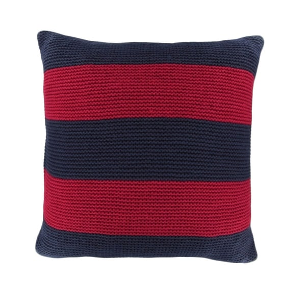 Nautica Mainsail Cabana Stripe Knit Decorative Pillow - 17417830 - Overstock.com Shopping ...
