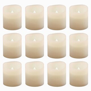 Battery Operated Warm White Flickering Votive Candles (Set of 12)