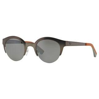Emporio Armani Men's EA2013 Metal Round Sunglasses