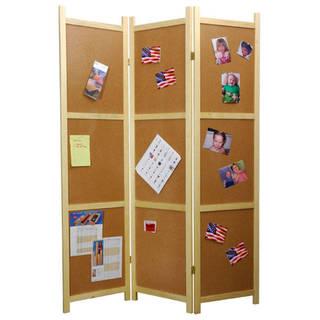 Handmade Cork Bulletin Board Room Divider