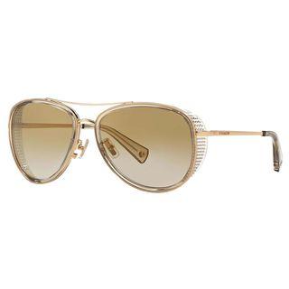 Coach Women's HC7040 L077 Andie 91726E Metal Pilot Sunglasses