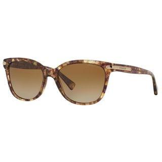 Coach Women's HC8132 L109 5287T5 Plastic Cat Eye Polarized Sunglasses