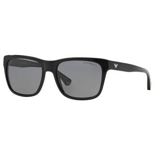 Emporio Armani Men's EA4041 Plastic Square Polarized Sunglasses