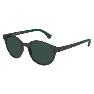 Emporio Armani Men's EA4045 Plastic Round Sunglasses