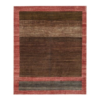 Herat Oriental Afghan Hand-knotted Tribal Vegetable Dye Gabbeh Brown/ Red Wool Rug (5' x 5'11)