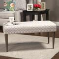 HomePop Gray Diamond Decorative Bench