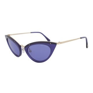 Tom Ford FT0349 90V Grace Cateye Sunglasses - Blue Frame