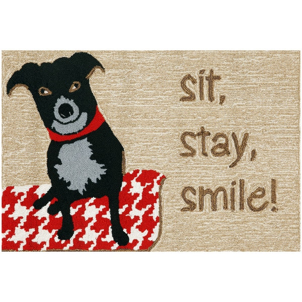 Happy Dog Outdoor Rug (2'6 x 4')