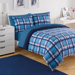 IZOD Par Plaid 3-piece Comforter Set
