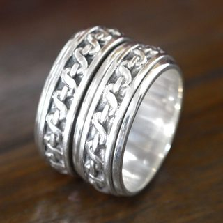 Handcrafted Sterling Silver 'Traditions' Ring (Indonesia)