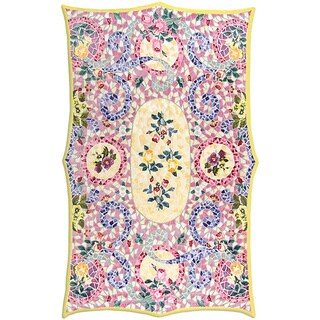 Hand-tufted And Hook Capri Wool and Silk Area Rug (5'3 x 8'3)