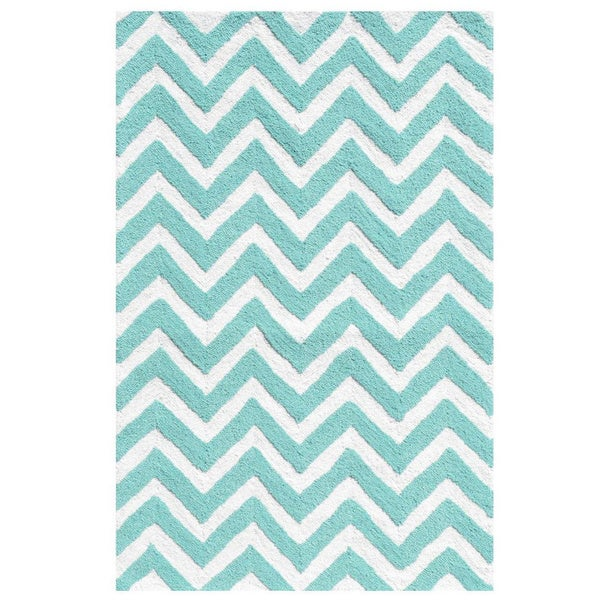 Chevron Teal Rug