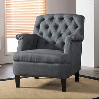 Jester Classic Retro Modern Contemporary Grey Fabric Upholstered Button-tufted Armchair