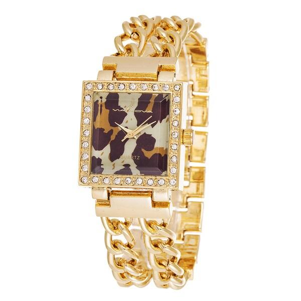 Via Nova Women's Metal Gold Chain Strap Watch