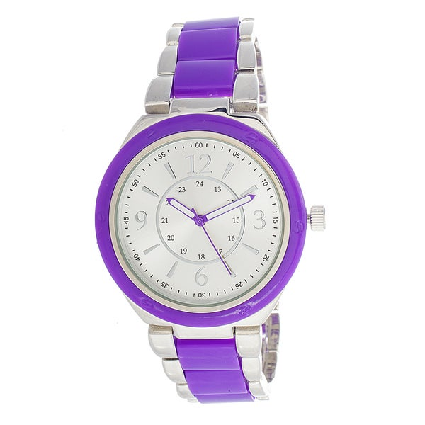 Xtreme Boyfriend Women's Silver Case / Purple Strap Watch