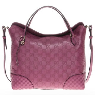 Gucci Bree Dusty Rose Guccissima Leather Top Handle Bag