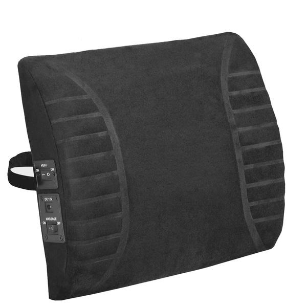 Massage Lumbar Black Heat Cushion