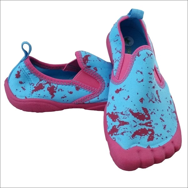 Girls' Twin Gore Splash Pink/ Aqua Water Shoes