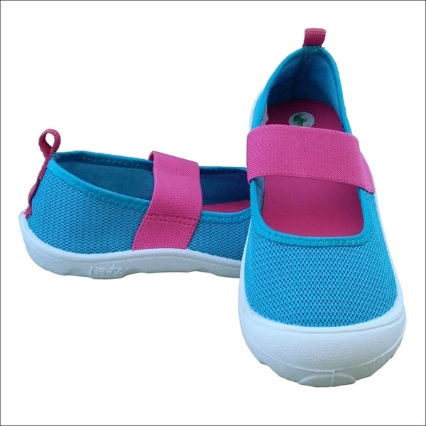 Girls' Mary Jane Aqua/ Pink Water Shoes