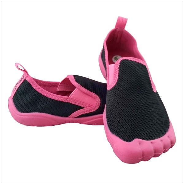 Girls' Twin Gore Mesh Black/ Pink Water Shoes