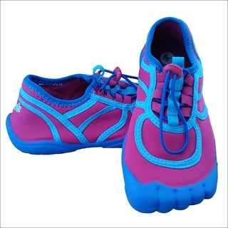 Girls' Toggle Contrast Pink/ Aqua/ Blue Water Shoes