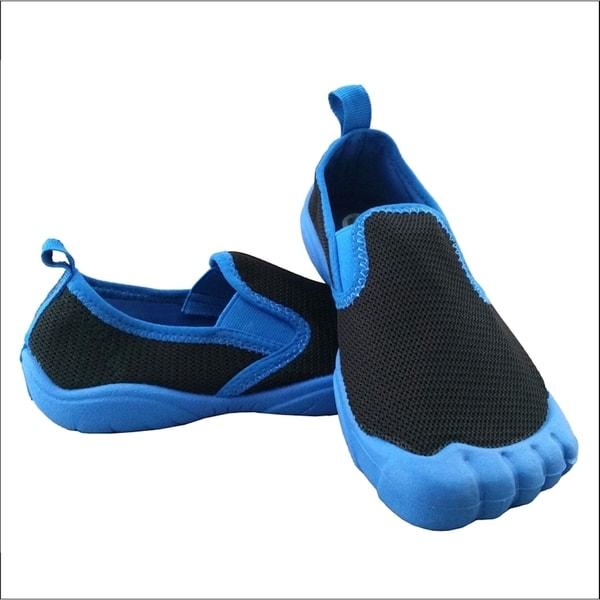 Boys' Twin Gore Mesh Black/ Blue Water Shoes