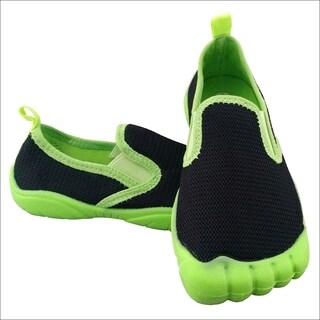 Boys' Twin Gore Mesh Black / Lime Water Shoes