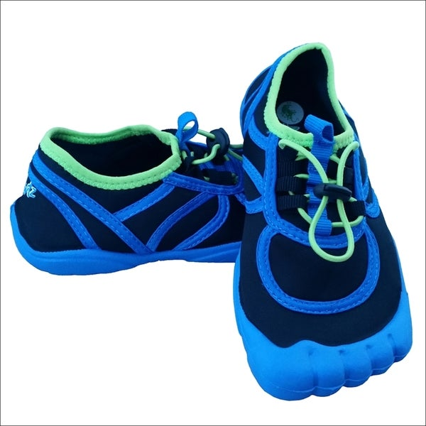 Boys' Toggle Contrast Blue/ Black/ Lime Water Shoes