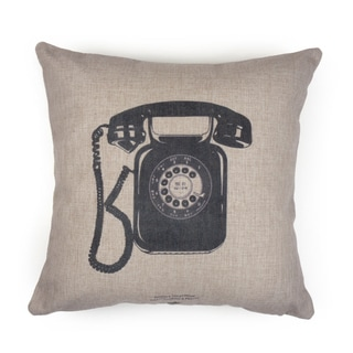 Journee Home 'Vintage Telephone' 17 inch Accent Pillow