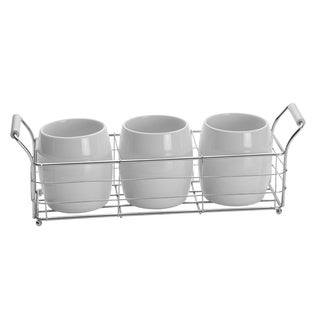 Towle Living Ceramic Flatware Caddy Set With Stand